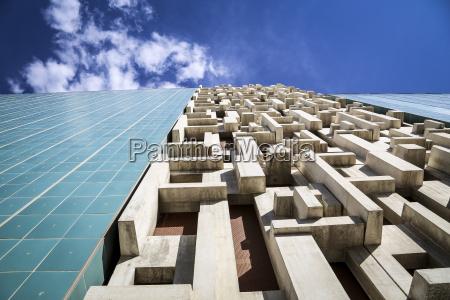 house wall in tetris pattern