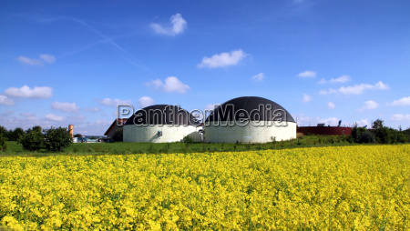 biogas plant in the rape field