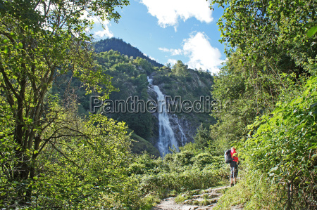 parachine waterfall in south tyrol italy