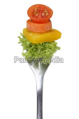 vegetarian or vegan diet eating salad