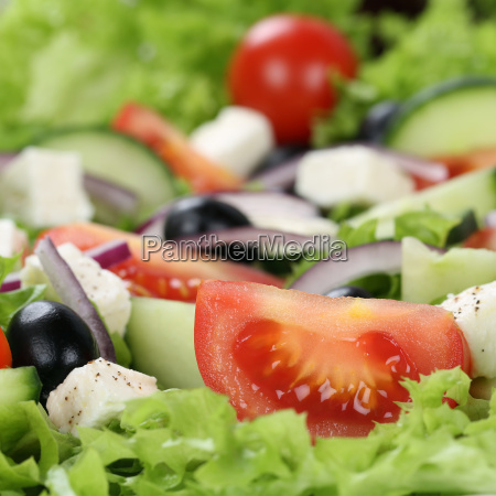 greek salad with tomatoes cheese and