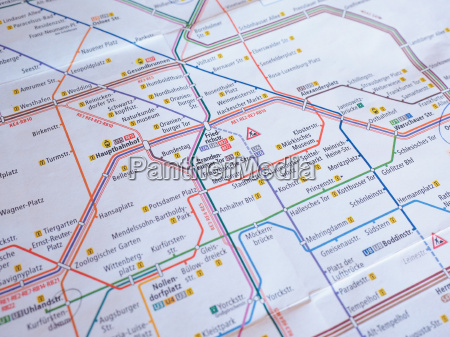 tube map of berlin underground aka