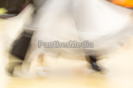 classical dance detail with motion blur