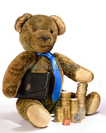 teddy as a businessman who proudly