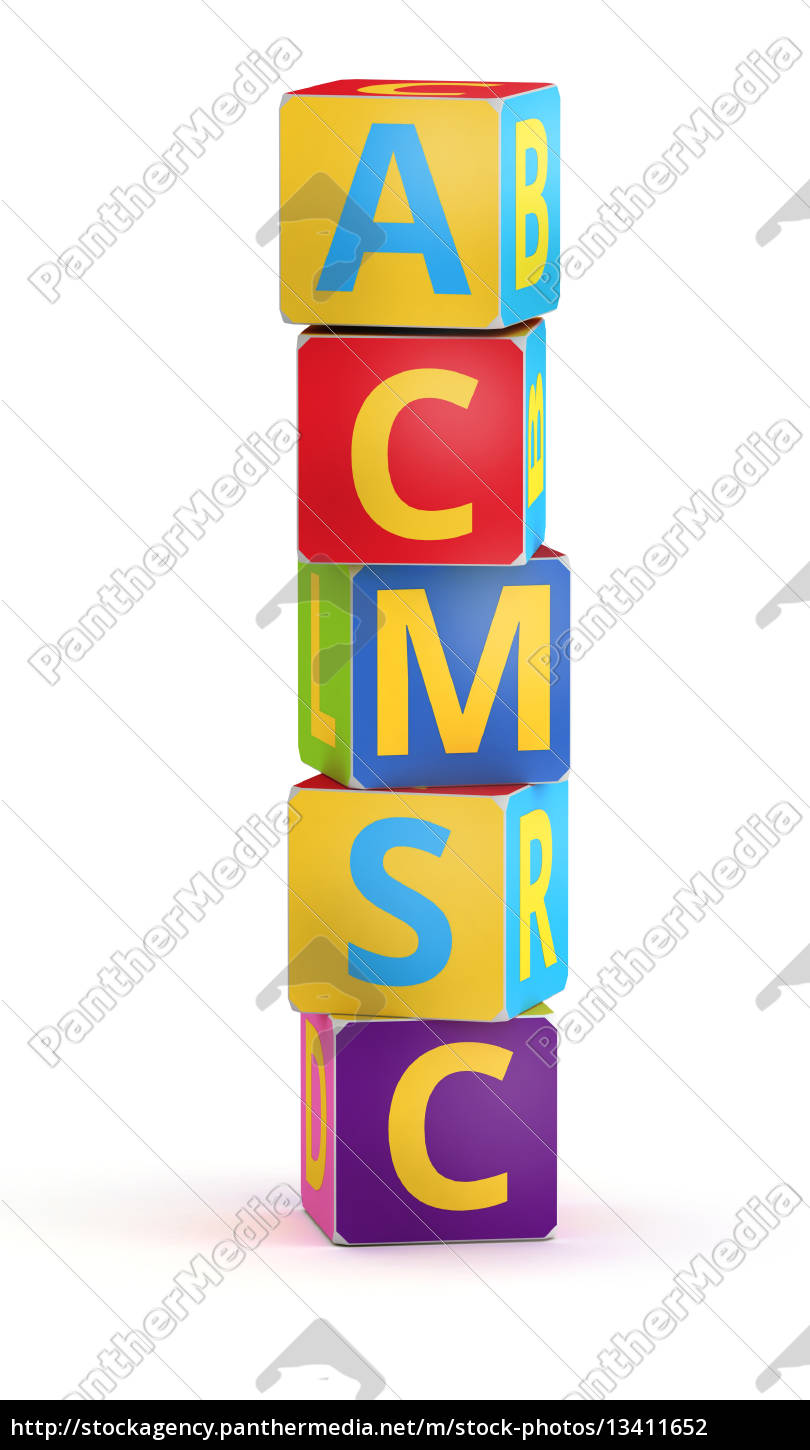 letter, i, maked, from, abc, cubes - 13411652