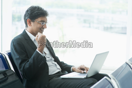indian business people at airport