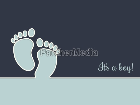 simplistic baby shower greeting card in