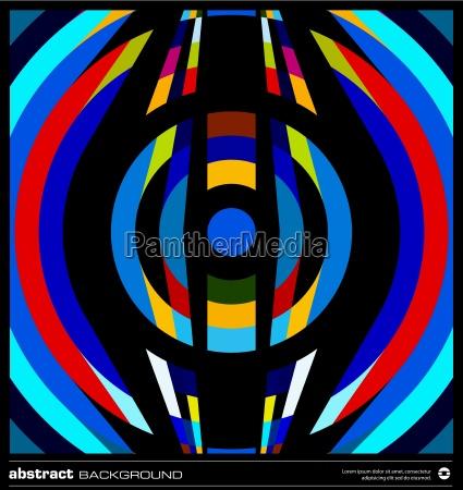 abstract retro circles background vector