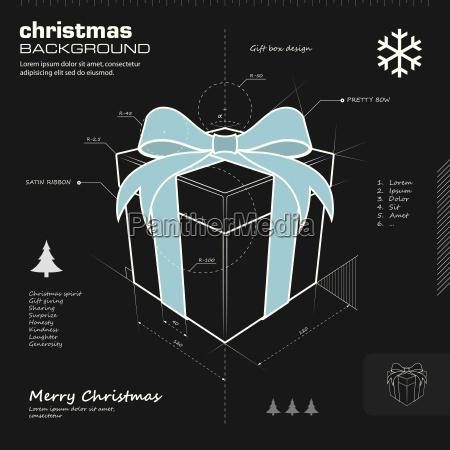 gift box design vector background
