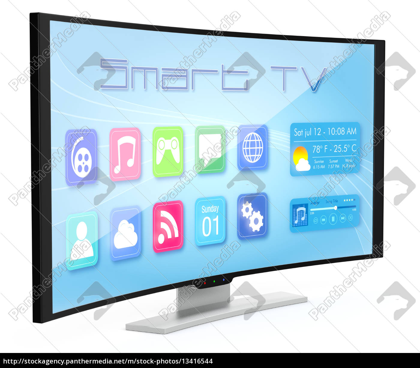 curved, tv - 13416544