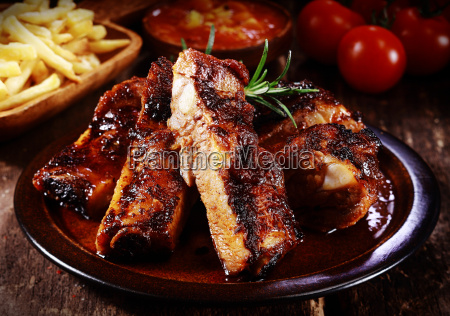 plate of spicy marinated grilled spare
