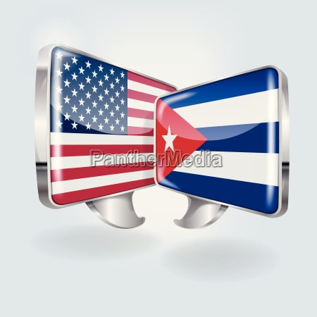 speech bubbles in cuban and american