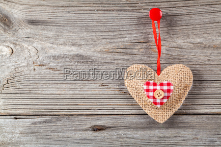 heart, decoration, wooden, background - 13425448