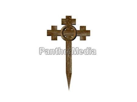 isolated religious cross