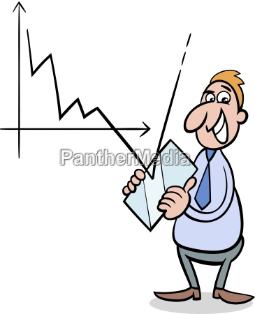 economic crisis cartoon illustration
