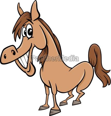 farm horse cartoon illustration