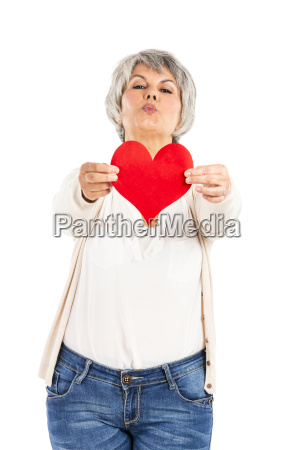 holding a heart in her hands