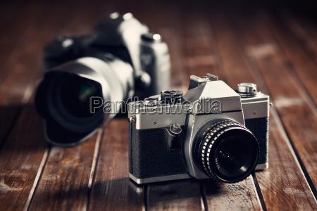 fotocamera retro e dslr