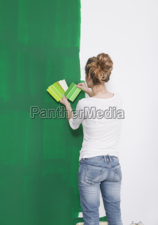 women, looking, green, tint, from - 13446258