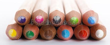 colour, pencils, on, white, background, close - 13448592