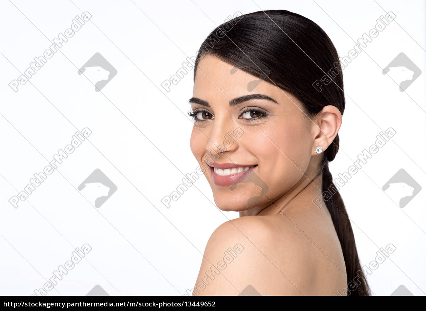 bare, shoulder, woman, looking, into, camera - 13449652
