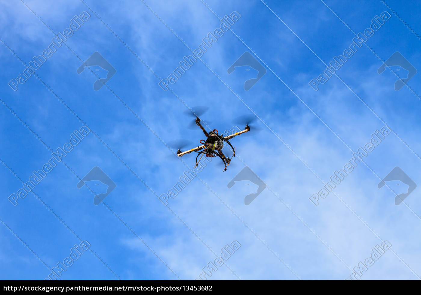 flying, drone, on, the, sky - 13453682
