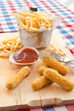 fries and mozzarella sticks