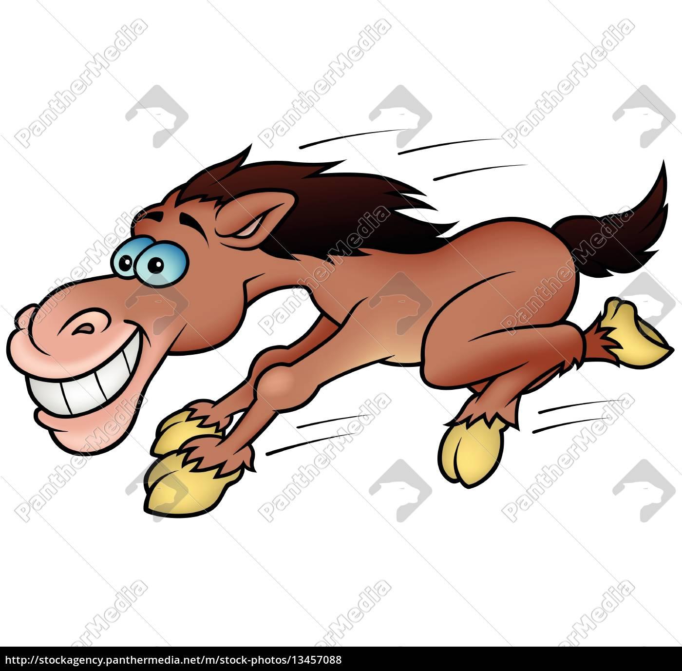 running, horse - 13457088