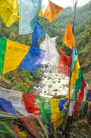 buddhist prayer flags in india
