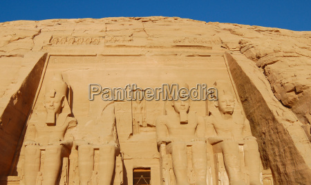 four large statues of ramesses ii