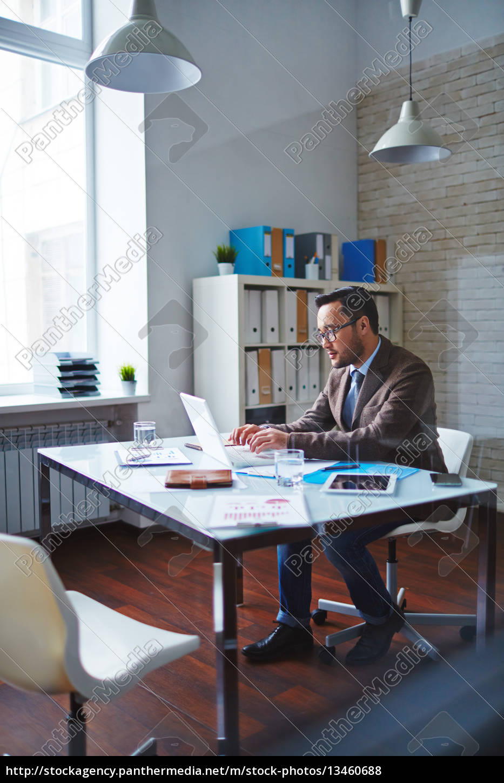 working, on, laptop - 13460688
