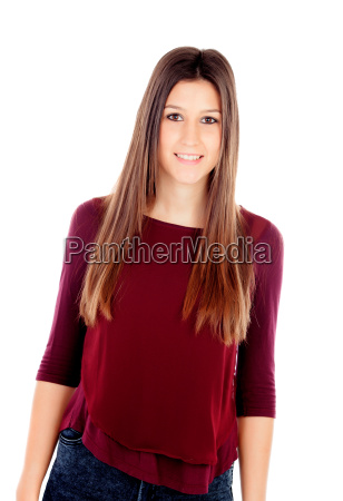 portrait of attractive girl with brown