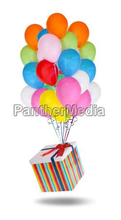 flying balloons stock image