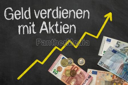 blackboard with money make money