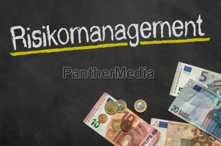 blackboard with money risk management