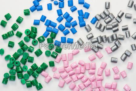 various plastic granules