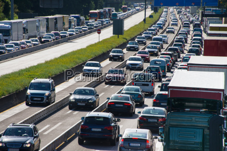 car traffic jam on highway
