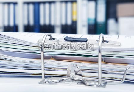 file folders in the office