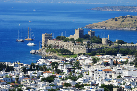view of bodrum harbor during hot