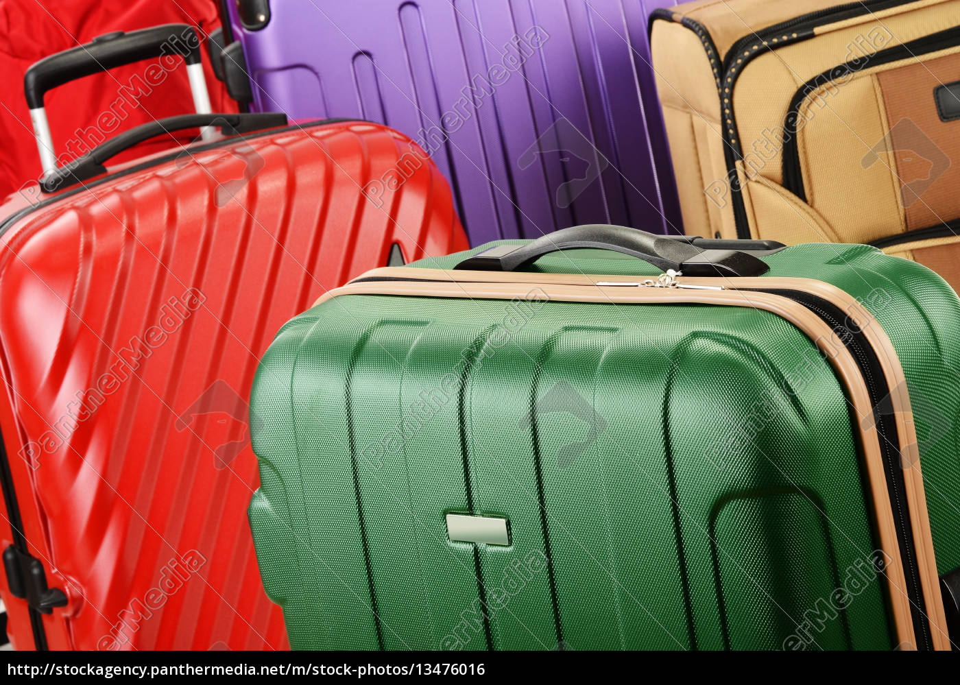 composition, with, colorful, travel, suitcases - 13476016