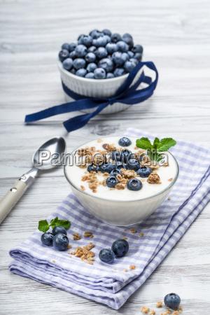bilberry yogurt with muesli