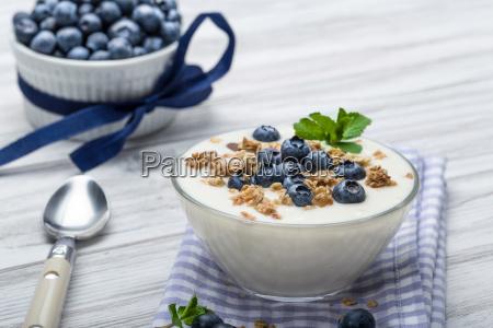 blueberry yogurt with muesli