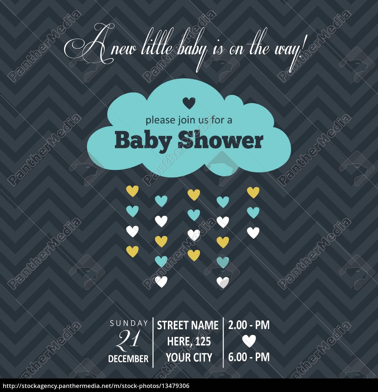 baby, boy, shower, card - 13479306