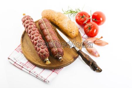 brettljause metzger salami bauer salami