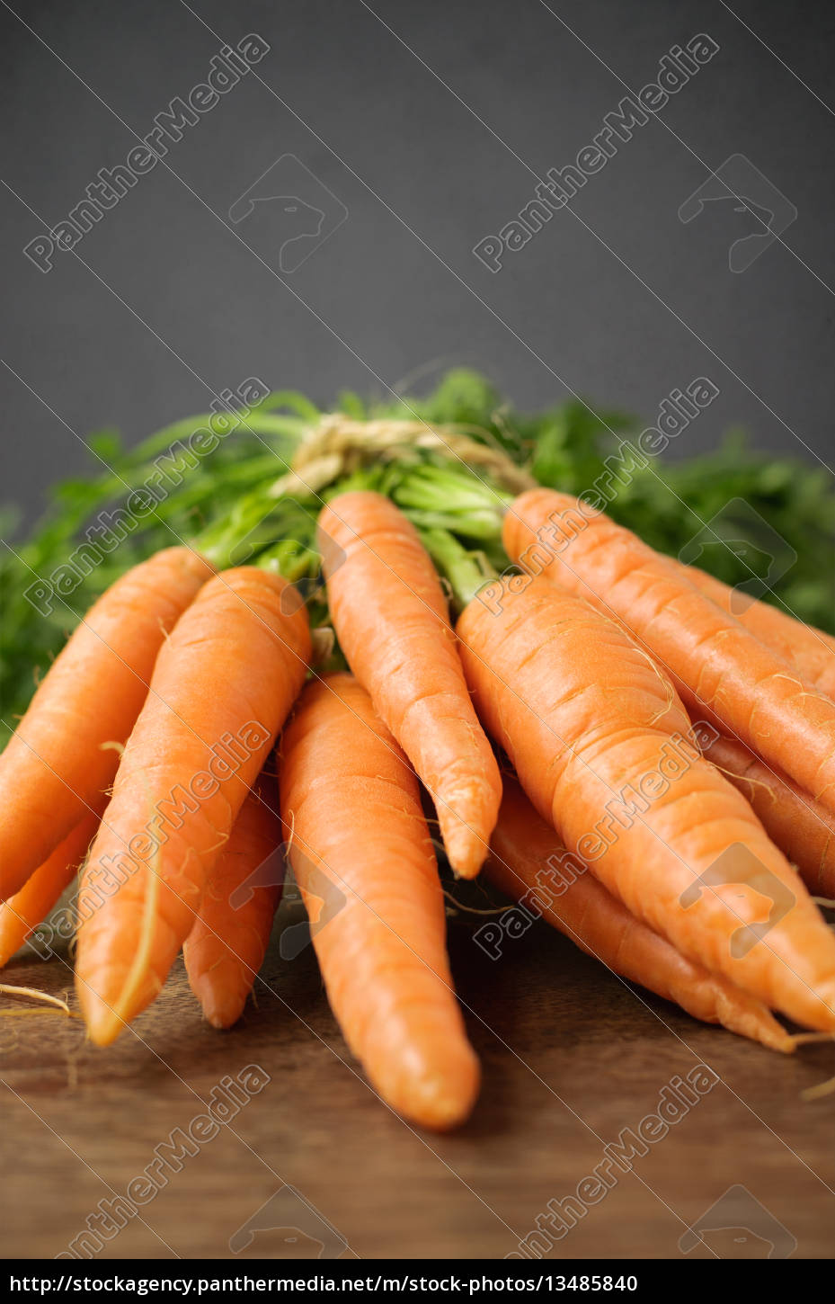 fresh, carrots, on, wooden, table - 13485840