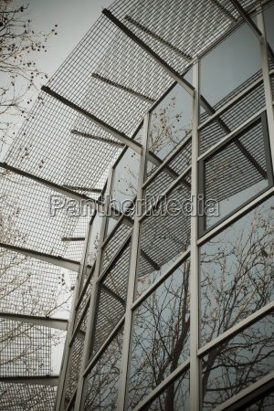 glass and steel structure modern architecture