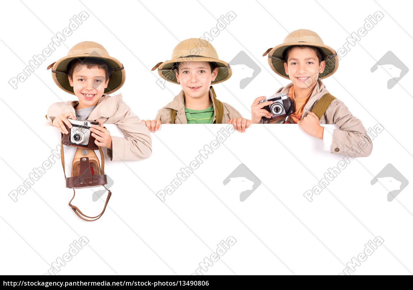 boys, in, safari, clothes - 13490806