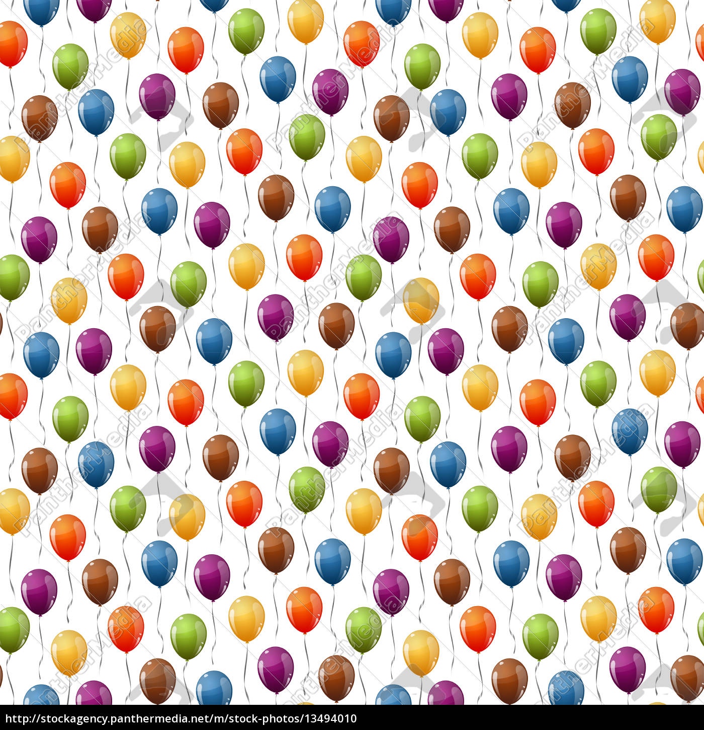 flying, balloons, background, seamless - 13494010