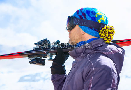 handsome skier man