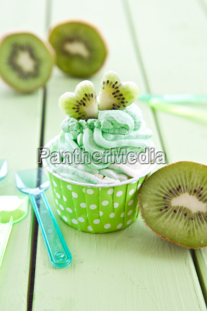 vanilla, ice, cream, and, kiwi - 13498358